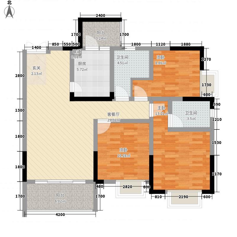 东湖湾532111.31㎡F5户型3室2厅2卫1厨