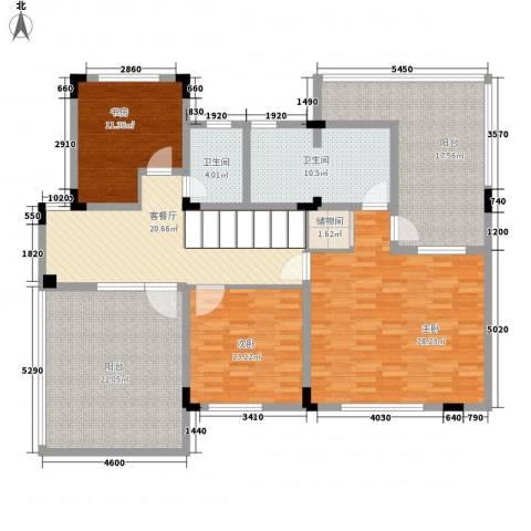 御源林城3室1厅2卫0厨183.00㎡户型图