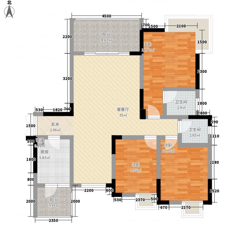 东湖湾353122.56㎡E3E5户型3室2厅2卫1厨