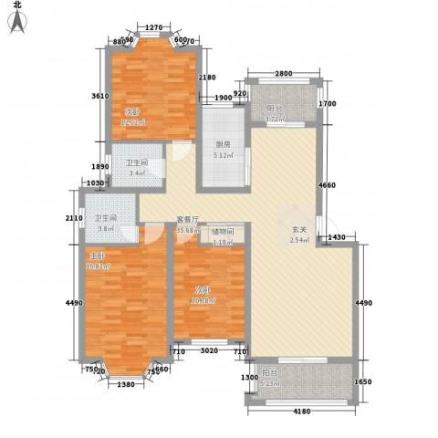 盛世豪庭3室1厅2卫1厨112.00㎡户型图