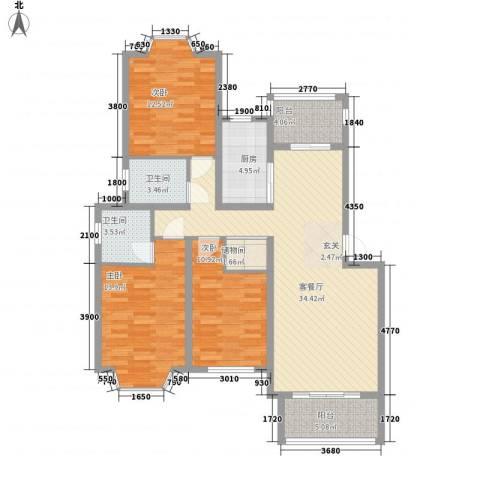 盛世豪庭3室1厅2卫1厨115.00㎡户型图