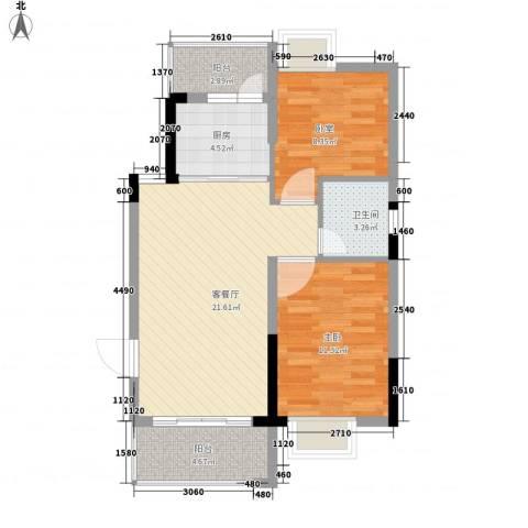 西街苑二期1室1厅1卫1厨86.00㎡户型图