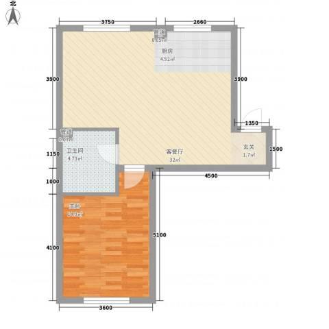 锦绣澜湾1室1厅1卫0厨65.00㎡户型图