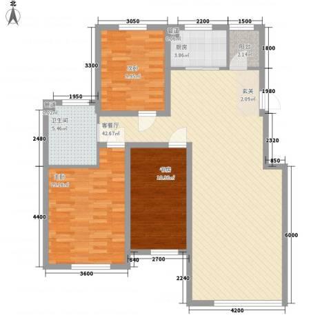 锦绣澜湾3室1厅1卫1厨90.27㎡户型图