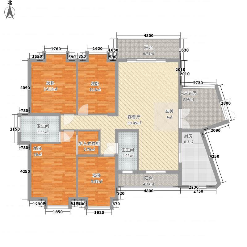 盛世豪庭147.00㎡D-2户型4室2厅2卫1厨