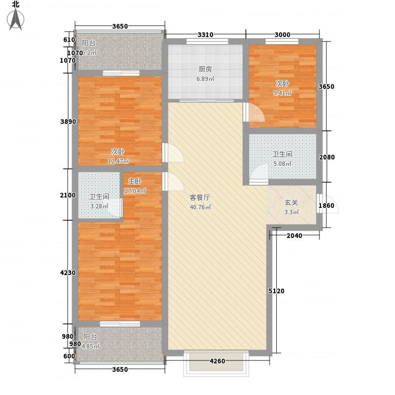 朝阳佳园148.74㎡F户型3室2厅2卫1厨