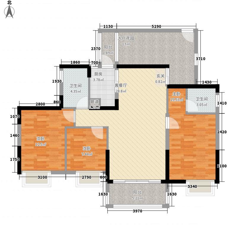 西粤京基城三期116.00㎡3幢05户型3室2厅2卫1厨