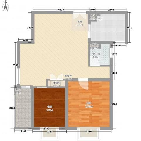 吉联大厦2室1厅1卫1厨88.00㎡户型图