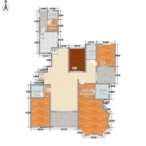 融侨城4室1厅4卫1厨211.00㎡户型图