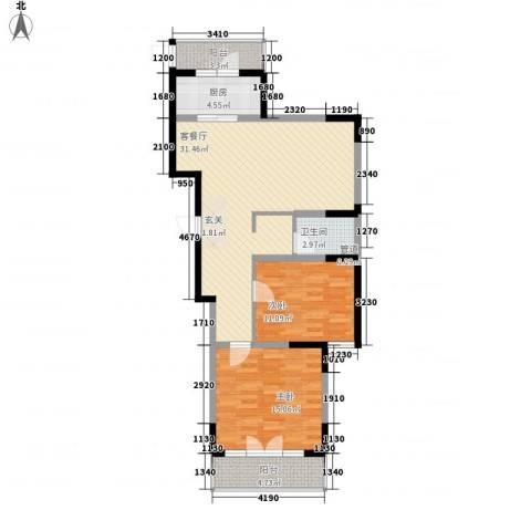 滨西花园二期2室1厅1卫1厨105.00㎡户型图