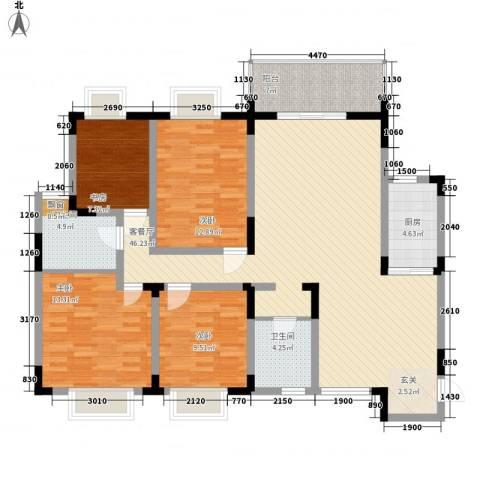 碧海乾图花园4室1厅2卫1厨148.00㎡户型图