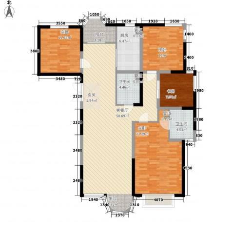 香堤湾4室1厅2卫1厨183.00㎡户型图