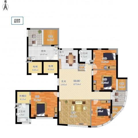 塘沽时代名居4室1厅2卫1厨176.95㎡户型图