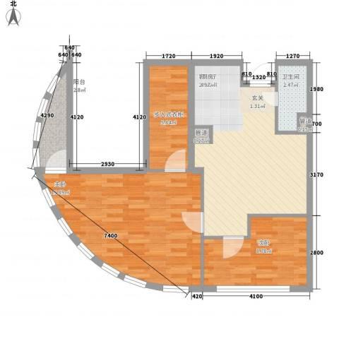 阳光金峰阁2室1厅1卫0厨106.00㎡户型图