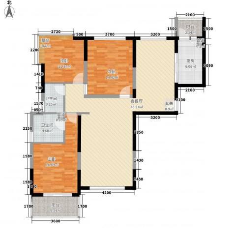 天都首郡3室1厅2卫1厨125.00㎡户型图