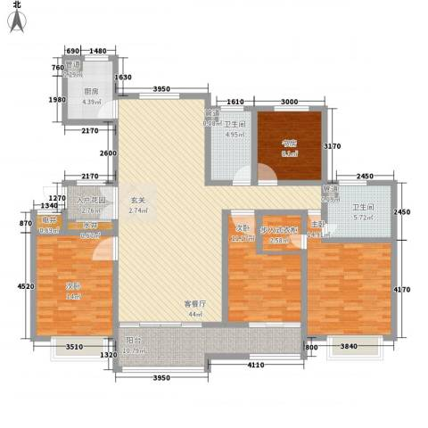 大川世纪城4室1厅2卫1厨182.00㎡户型图