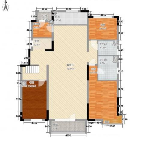 万科惠斯勒小镇3室1厅2卫1厨207.00㎡户型图