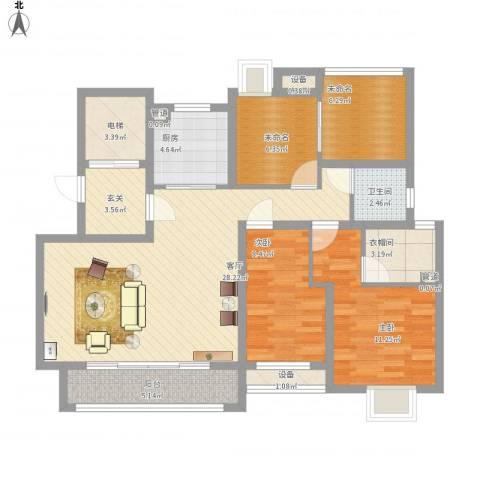 海亮香榭里2室1厅1卫1厨125.00㎡户型图