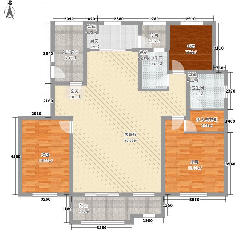 龙湖滟澜山住宅171.00㎡龙湖滟澜时光3居D1户型3室2厅2卫1厨