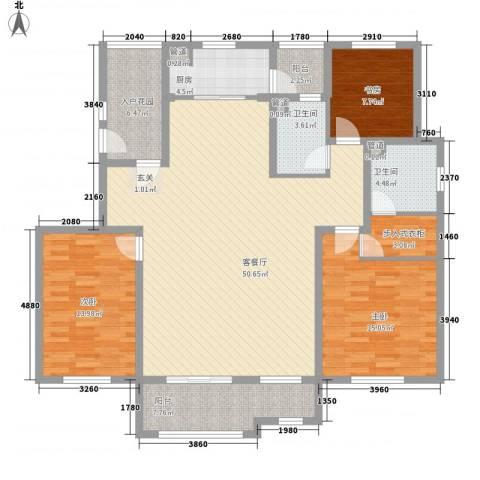 龙湖滟澜山住宅3室1厅2卫1厨171.00㎡户型图