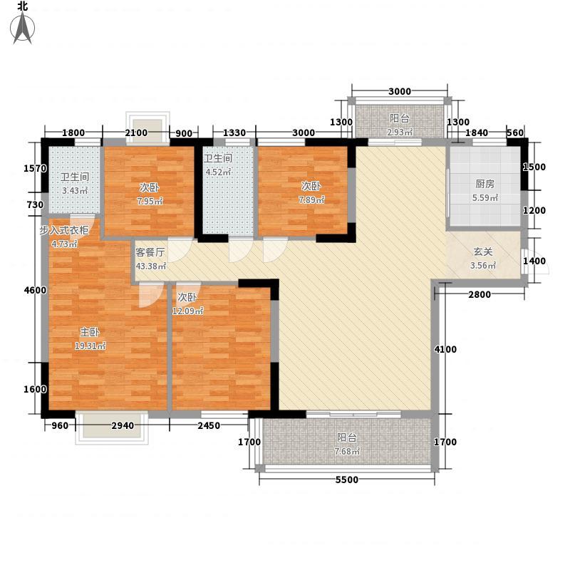 江景湾4415.47㎡户型4室4厅2卫1厨