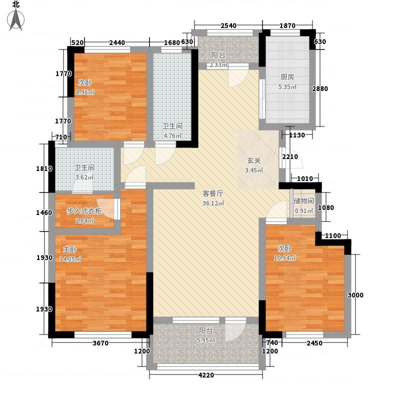 新奇世界国际度假区・济南鹊山14.00㎡小高层户型3室2厅2卫1厨