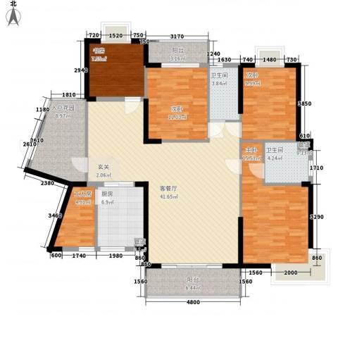 未来海岸系天成4室1厅2卫1厨155.00㎡户型图