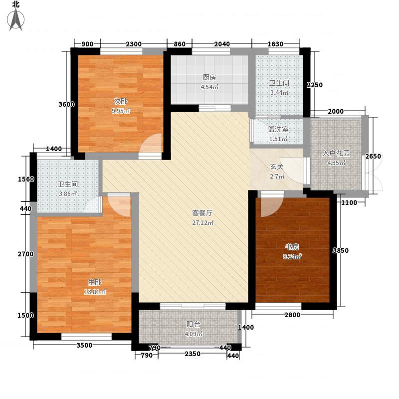 中建・国际花园114.00㎡中建?国际花园高层D1户型3室2厅2卫1厨