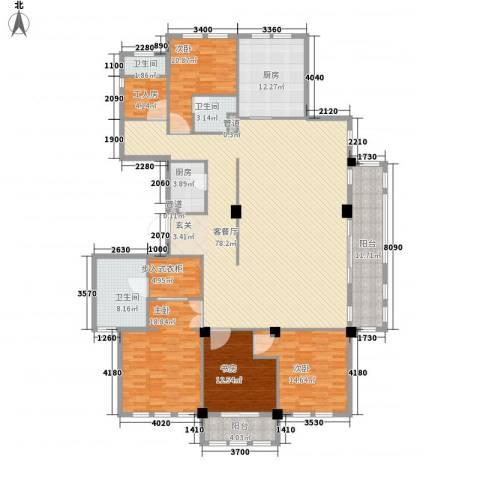 维科太子湾4室1厅3卫2厨262.00㎡户型图