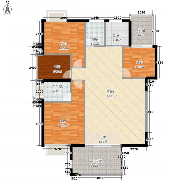 凯逸阳光155.20㎡舒适户型4室2厅2卫1厨