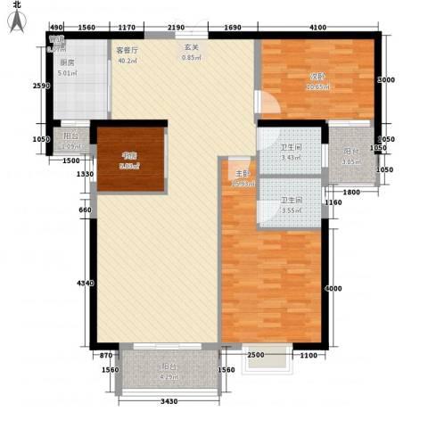 华府豪庭二期3室1厅2卫1厨2124.00㎡户型图