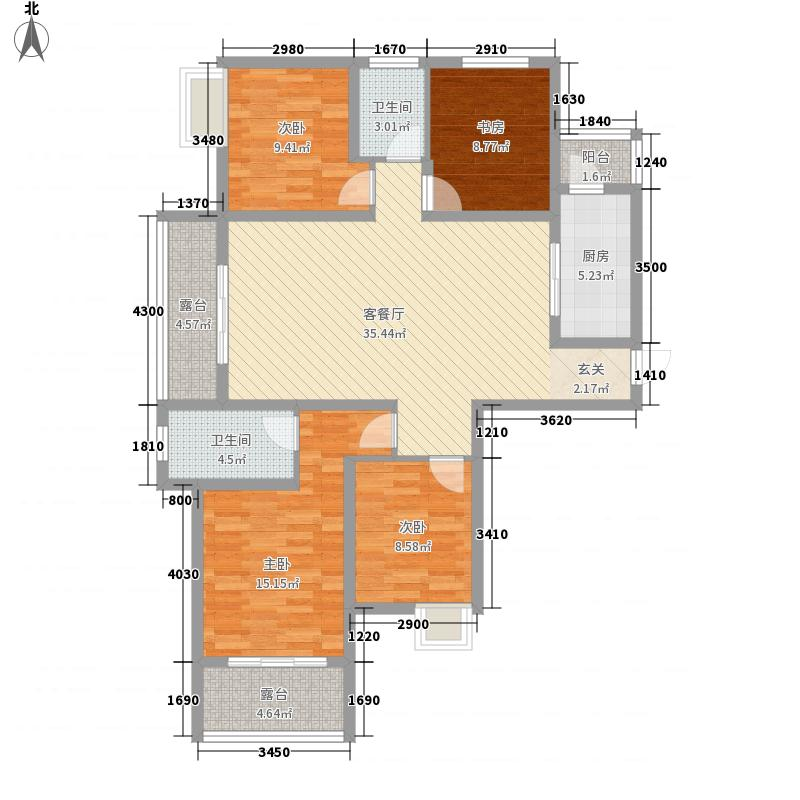 开封润城146.00㎡146m²户型4室2厅2卫