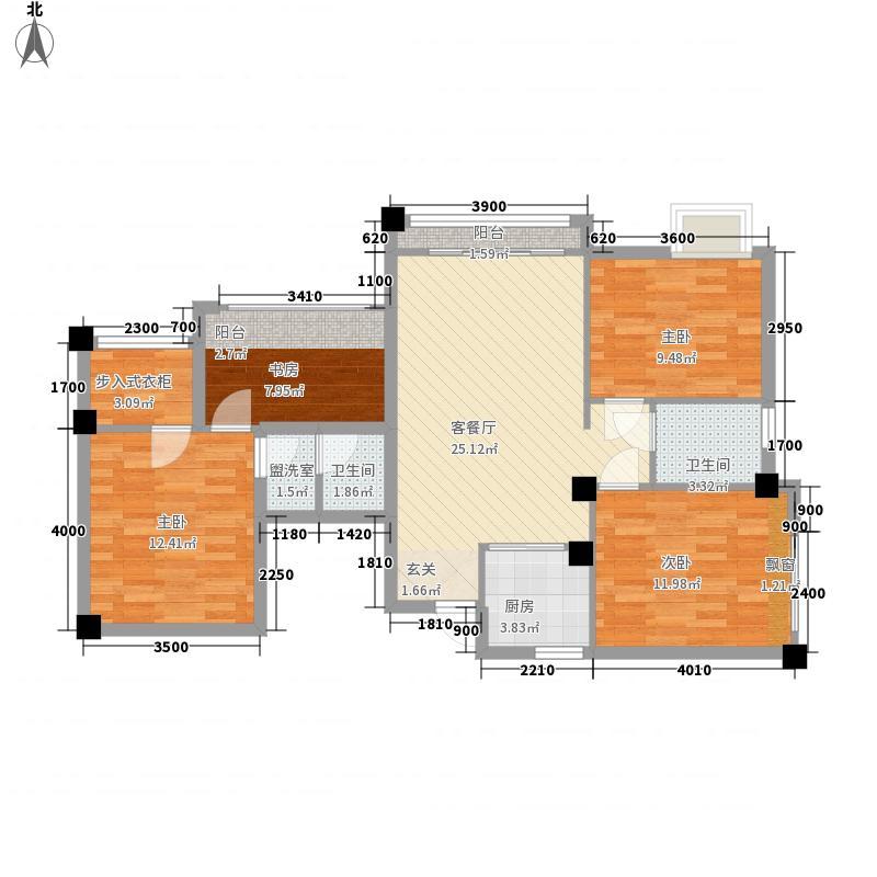 广汇桂林郡113.34㎡天鹅堡AC亲情母子房户型3室3厅2卫1厨