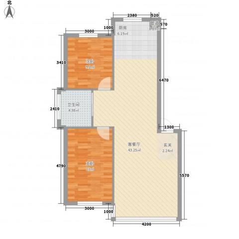 禾泰嘉园2室1厅1卫0厨88.00㎡户型图
