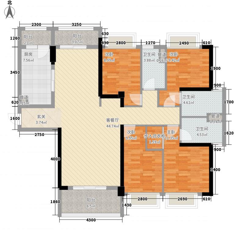 东部现代城15.00㎡40栋01户型4室2厅3卫1厨
