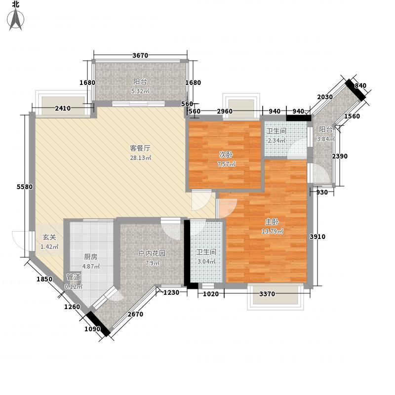 城市杰座109.00㎡城市杰座户型图03宽心家3室2厅2卫1厨户型3室2厅2卫1厨