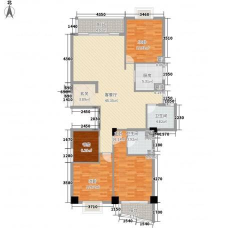 紫荆花园4室1厅2卫1厨171.00㎡户型图