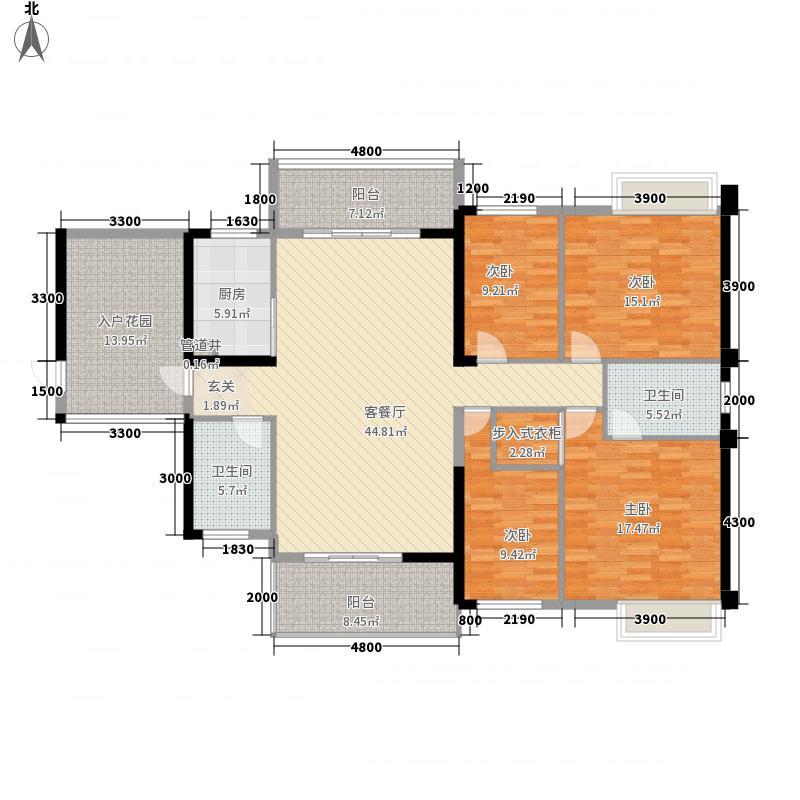嘉泰银河湾1717.20㎡银河湾17楼J户型4室2厅2卫1厨