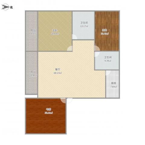 北京慧家家3室1厅2卫1厨260.00㎡户型图