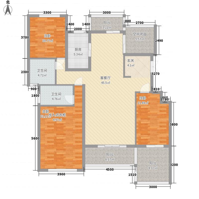 伴山帝景142.26㎡A-2A户型3室2厅2卫1厨