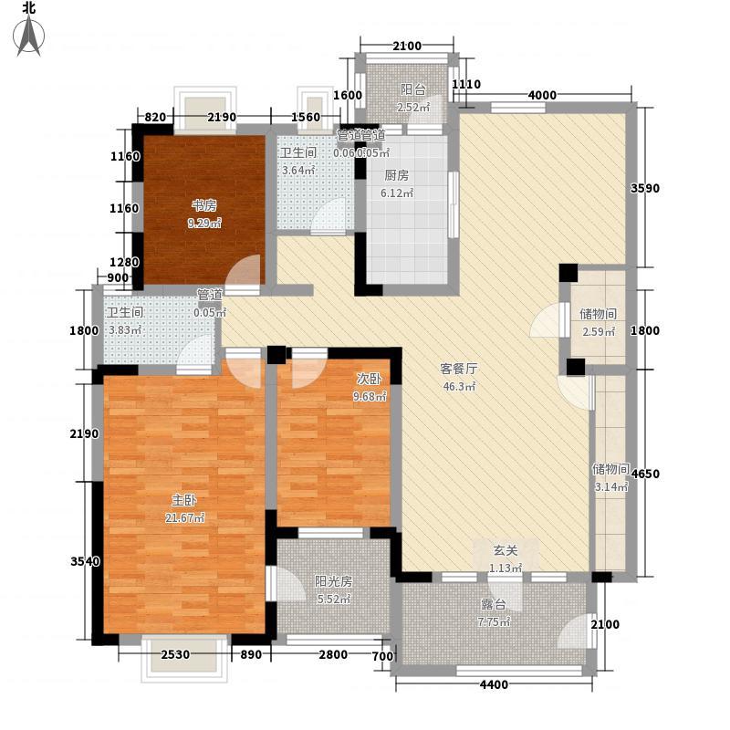 理想城洋房标准层As-2户型