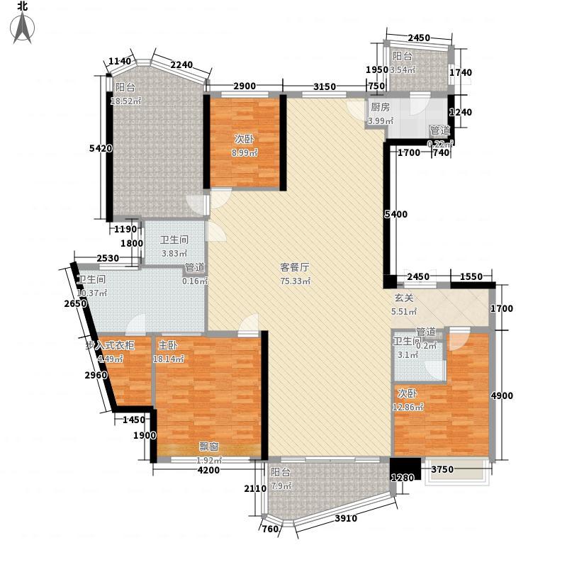 万科水晶城9栋0户型3室2厅3卫1厨
