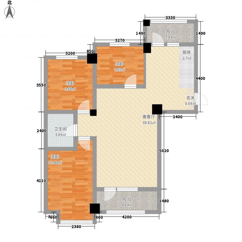 枫丹丽都3115.77㎡户型3室2厅1卫1厨