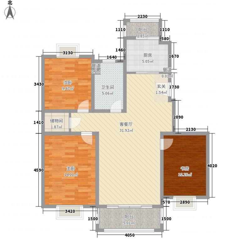 吉利名苑120.02㎡上海户型3室2厅1卫1厨