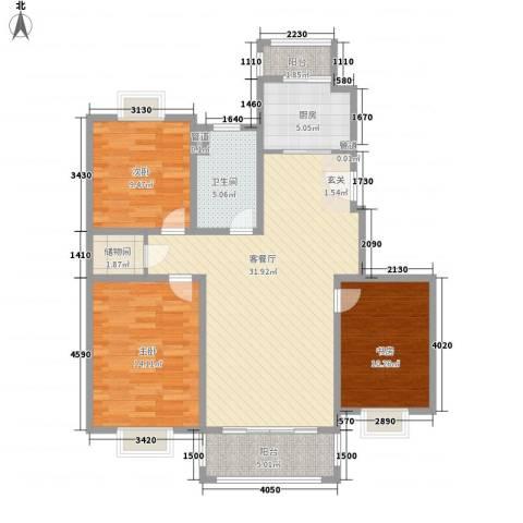 吉利名苑3室1厅1卫1厨120.00㎡户型图