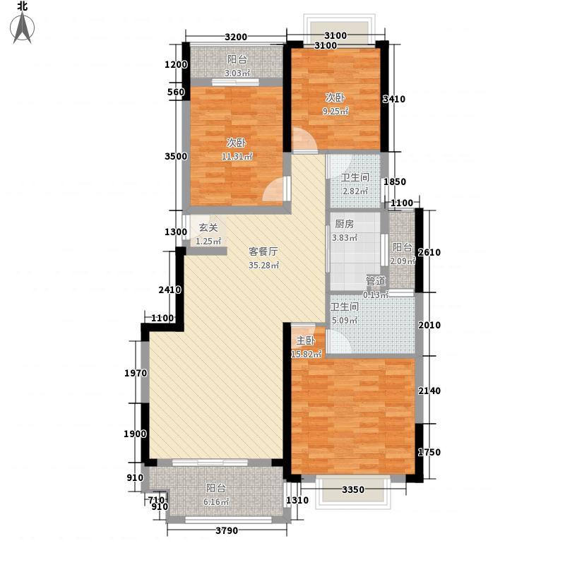 电力佳园114.44㎡C栋C2户型3室2厅2卫1厨