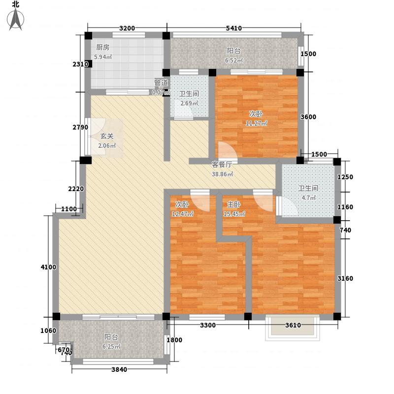 电力佳园125.25㎡D栋D2户型3室2厅2卫1厨