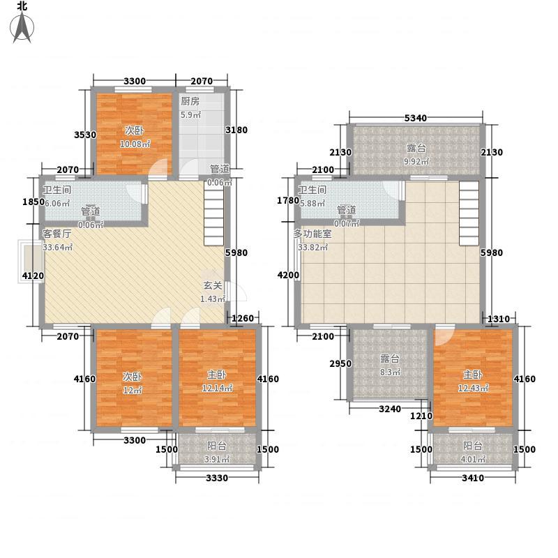凯旋新城175.50㎡7#10#复式A户型4室2厅2卫