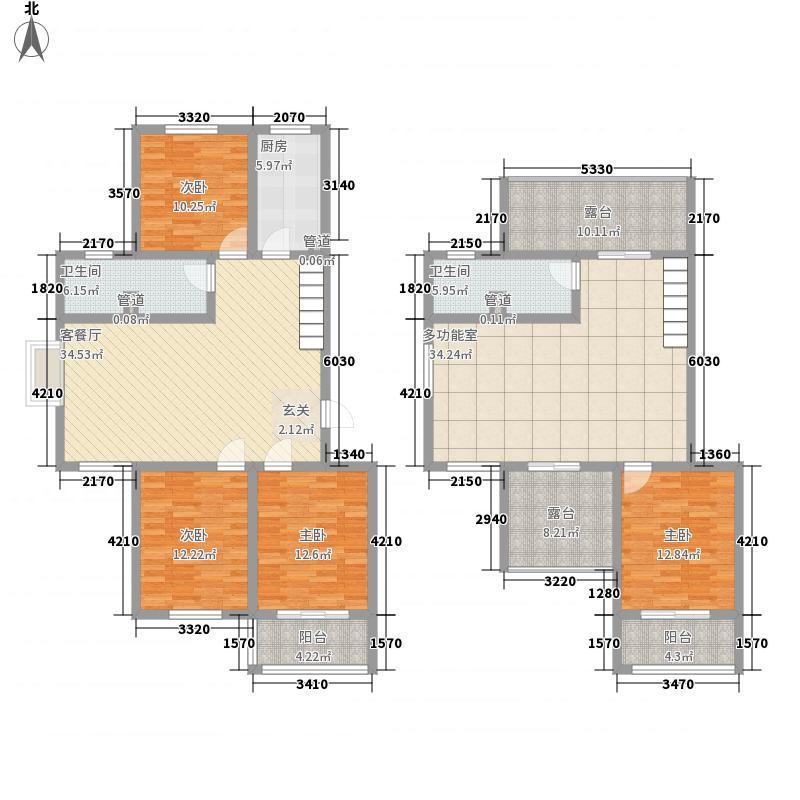 凯旋新城175.20㎡7#10#复式B户型4室2厅2卫