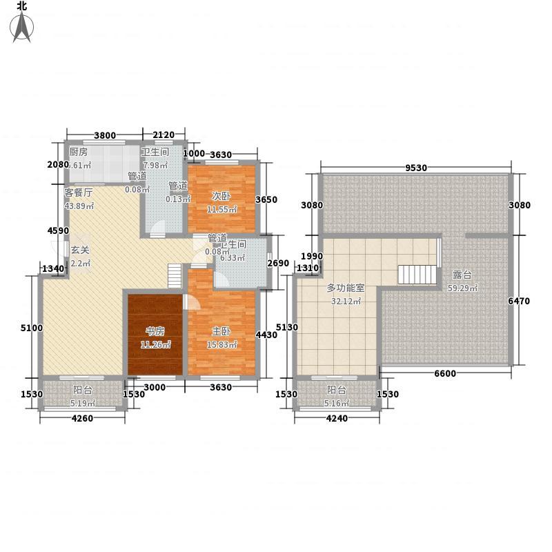 凯旋新城177.13㎡8#12#复式A户型3室2厅2卫